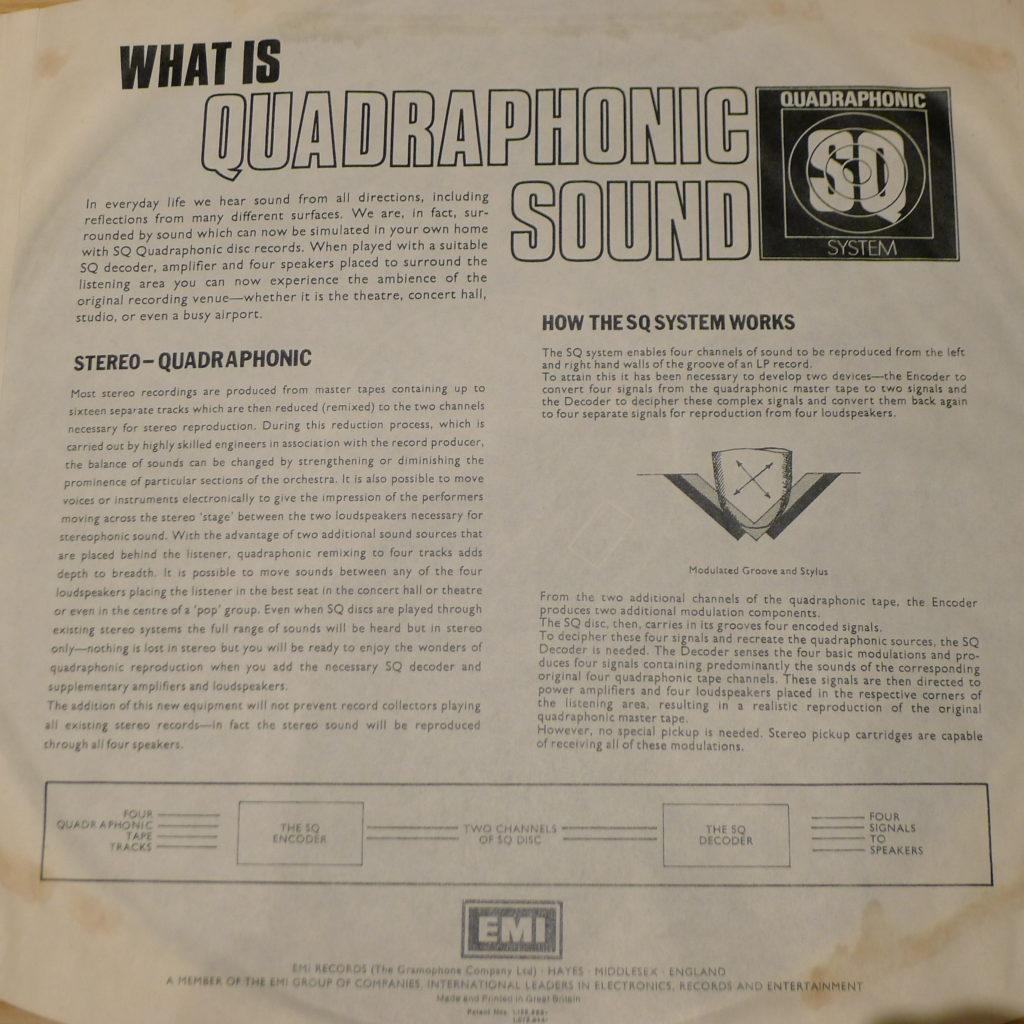 Koszulka płyty kwadrofonicznej