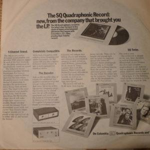 koperta wewnętrzna płyty kwadrofonicznej